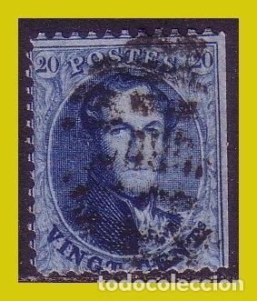BÉLGICA, 1858 LEOPOLDO I, IVERT Nº, 11 (O) (Sellos - Extranjero - Europa - Bélgica)
