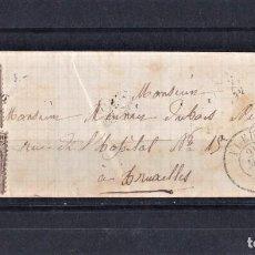 Sellos: BELGICA 1865 CARTA ENVUELTA CIRCULADO. MANUSCRITO DEL AÑO 1865 CON SELLO. Lote 242070950