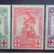 Sellos: SELLOS USADOS DE BELGICA 1914/ 15, YT 126/ 28. Lote 243593900
