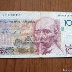 Sellos: BILLETE 100 FRANCOS BÉLGICA.. Lote 245477050