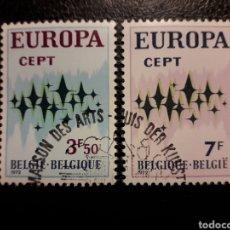 Timbres: BÉLGICA YVERT 1623/4 SERIE COMPLETA USADA 1972. EUROPA CEPT. PEDIDO MÍNIMO 3 €. Lote 249415635