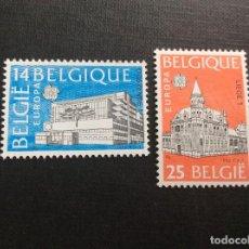 Sellos: BELGICA Nº YVERT 2367/8*** AÑO 1990. EUROPA. EDIFICIOS POSTALES. Lote 254284160