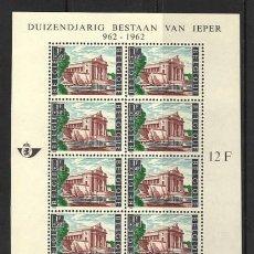 Sellos: BELGICA 1962 - MILENARIO DE LA VILLA DE YPRES - YVERT HB Nº 33**. Lote 255571635