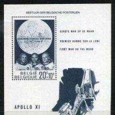 Sellos: BELGICA 1969 - LLEGADA DEL HOMBRE A LA LUNA - YVERT HB Nº 46**. Lote 255574045