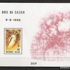 Sellos: BELGICA 1981 - 25 ANIVERSARIO DE LA CATATROFE MINERA DE BOIS DU CAZIER - YVERT HB Nº 57**. Lote 255577735