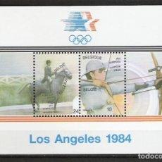 Sellos: BELGICA 1984 - JUEGOS OLIMPICOS DE LOS ANGELES-84 - YVERT HB Nº 60**. Lote 255578415