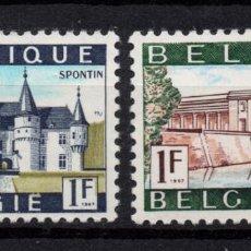 Sellos: BÉLGICA 1423A/24A** - AÑO 1967 - TURISMO - PAISAJES Y MONUMENTOS. Lote 261006015