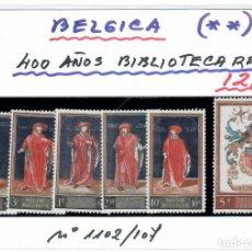 Sellos: SELLOS DE BELGICA 400 AÑOS BIBLIOTECA REAL AÑO 1959. Lote 261587785