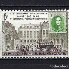 Sellos: 1963 BÉLGICA MICHEL 1310 YVERT 1250 ANIV. CONFERENCIA POSTAL DE PARÍS MNH** NUEVO SIN FIJASELLOS. Lote 269306223