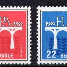 Sellos: BELGICA, 1984 STAMP , MICHEL 2182-2183. Lote 269992368
