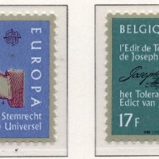 Sellos: BELGICA, 1982 STAMP , MICHEL 2100-2101. Lote 269992438
