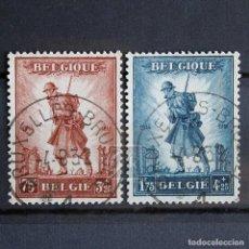 Sellos: BELGICA 1932 ~ MONUMENTO A LA INFANTERÍA ~ USADO. Lote 275509138