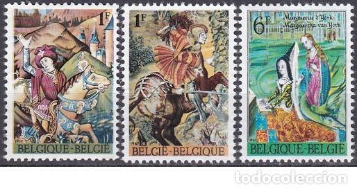 LOTE SELLOS ANTIGUO DE BELGICA - PINTURA - (ENVIO COMBINADO COMPRA MAS) (Sellos - Extranjero - Europa - Bélgica)