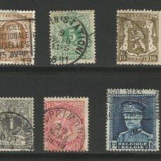 Sellos: BÉLGICA - LOTE DE 9 SELLOS DESDE 1891 - 1933 - USADOS, PERO EN MUY BUENO ESTADO. Lote 278827053