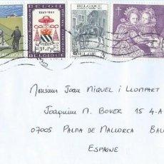 Sellos: BÉLGICA/BELGIUM. SOBRE CIRCULADO. FRANQUEO INTERESANTE. AGRICULTURA, ESCUDOS, CABALLOS, ARTE.... Lote 280113708