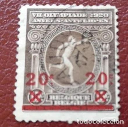 BELGICA.1921.-SELLO DE 1920 SOBRECARGADO: 20 C SOBRE 15 C (Sellos - Extranjero - Europa - Bélgica)