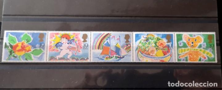GRAN BRETAÑA - AÑO 1989 - SELLOS DE FELICITACIONES- 1367/71 NUEVOS (Sellos - Extranjero - Europa - Bélgica)
