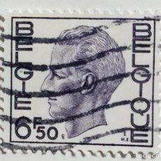 Sellos: SELLO DE BELGICA 6,50 F. - 1975 - REY BALDUINO - USADO SIN SEÑAL DE FIJASELLOS. Lote 288982008
