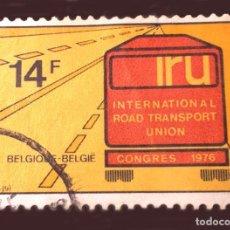 Sellos: MICHEL BE 1859 - BÉLGICA - 1976 - IRU - INTERNATIONAL ROAD TRANSPORT UNION CONGRESS 1976. Lote 289433598
