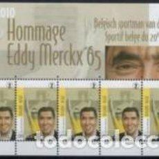 Sellos: MP ** BELGICA 2010, EDDY MERCKX 65, YT 4043. Lote 296019998