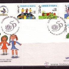 Sellos: BOLIVIA SPD 951/54 - AÑO 1997 - 50º ANIVERSARIO DE UNICEF - DIBUJOS INFANTILES. Lote 18126974