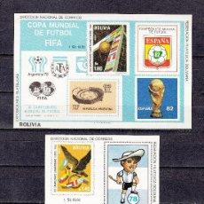 Sellos: BOLIVIA HB CATALOGO MICHEL 98/9 SIN DENTAR SIN CHARNELA, DEPORTE, FIFA, COPA DEL MUNDO DE FUTBOL. Lote 26467226