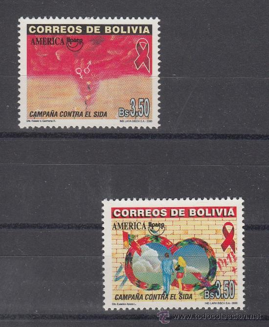 BOLIVIA 1061/2 SIN CHARNELA, TEMA UPAEP, MEDICINA, LUCHA CONTRA EL SIDA (Sellos - Extranjero - América - Bolivia)