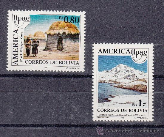 BOLIVIA 757/8 SIN CHARNELA, TEMA UPAEP, EL MEDIO NATURAL QUE VIERON LOS DESCUBRIDORES (Sellos - Extranjero - América - Bolivia)