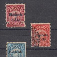 Sellos: BOLIVIA 121/3 USADA, SOBRECARGADO, . Lote 26491474