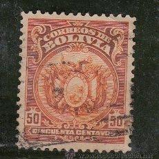 Sellos: BOLIVIA 118A USADA, ESCUDO. Lote 26491513