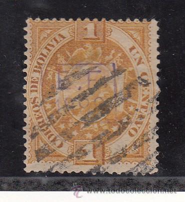 BOLIVIA 54 USADA, SOBRECARGADO, (Sellos - Extranjero - América - Bolivia)