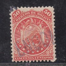Sellos: BOLIVIA 32 USADA, ESCUDO (9 ESTRELLAS). Lote 26491955