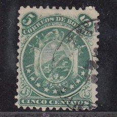 Sellos: BOLIVIA 9 USADA, ESCUDO (9 ESTRELLAS). Lote 26492375