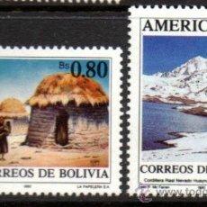 Sellos: BOLIVIA.- YVERT Nº 758/59 EN NUEVO CON SEÑAL DE FIJASELLOS (BOL-21). Lote 33479066