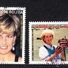 Sellos: BOLIVIA 968/69 - AÑO 1997 - HOMENAJE A DIANA, PRINCESA DE GALES. Lote 49171272