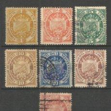 Sellos: BOLIVIA 1894 YVERT NUM. 39/45 SERIE COMPLETA USADA. Lote 57690038