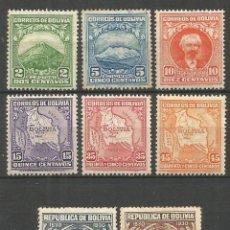 Sellos: BOLIVIA YVERT NUM. 168/175 * SERIE COMPLETA CON FIJASELLOS -EL 5 C. ES USADO Y RESTO CON OXIDO-. Lote 57690430