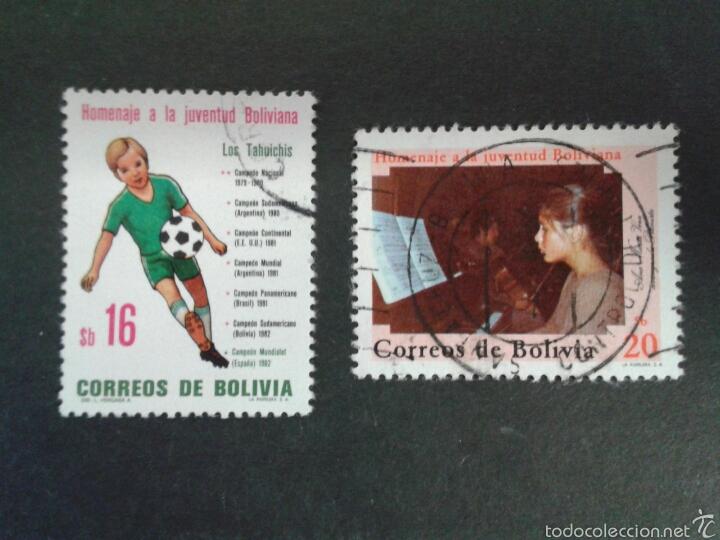 SELLOS DE BOLIVIA. YVERT 624/5. SERIE COMPLETA USADA. (Sellos - Extranjero - América - Bolivia)