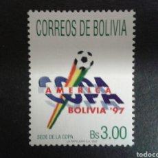 Sellos: BOLIVIA. YVERT 962. SERIE COMPLETA NUEVA SIN CHARNELA. DEPORTES. FÚTBOL. COPA AMÉRICA. Lote 98661838