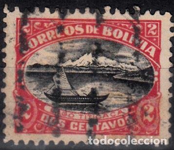 BOLIVIA. YVERT 106 USADO. BARCOS. (Sellos - Extranjero - América - Bolivia)