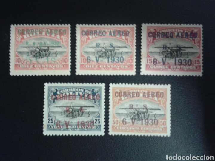 BOLIVIA. YVERT A-3A/3E. FALTA EL 3F. SERIE CORTA NUEVA CON CHARNELA. AVIONES. SOBRECARGADOS. (Sellos - Extranjero - América - Bolivia)