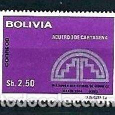 Sellos: BOLIVIA,1975,CONGRESO DE CORREOS,NUEVO,MNH**,YVERT 531. Lote 129403851