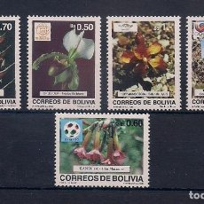 Sellos: BOLIVIA 1989 - OLYMPICS BARCELONA 92 - Y FLORES - YVERT Nº 726/730**. Lote 135245434