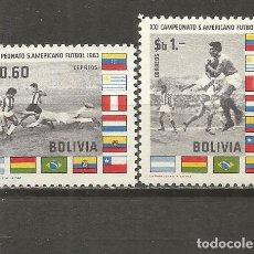 Sellos: BOLIVIA YVERT NUM. 436/437 ** SERIE COMPLETA SIN FIJASELLOS FUTBOL DEPORTES. Lote 139576538