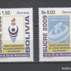 Sellos: R/18668, SERIE NUEVA ** MNH DE BOLIVIA -SUCRE 2009-, AÑO 2009, EN PERFECTO ESTADO. Lote 142186014