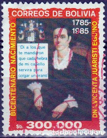 1985 - BOLIVIA - BICENTENARIO VICENTA JUARISTI EGUINO - HEROINA INDEPENDENCIA - YVERT 660 (Sellos - Extranjero - América - Bolivia)