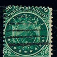 Sellos: BOLIVIA 30, ESCUDO NACIONAL (AÑO 1890), USADO. Lote 173009552