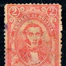 Sellos: BOLIVIA 53,JOSÉ M. LINARES, EX-PRESIDENTE (AÑO 1897), USADO. Lote 173009753