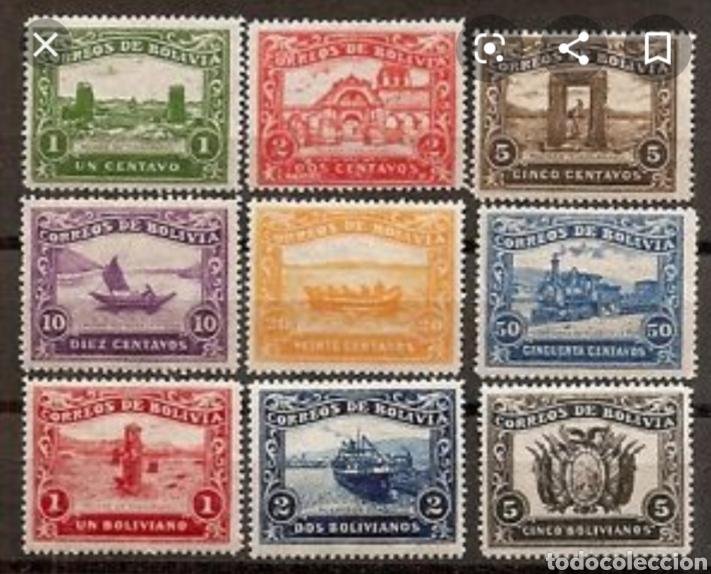 Sellos: BOLIVIA. 1914 INAUGURACIÓN FERROCARRIL QUAQUI- LA PAZ FALSIFICACIONES EN LITOGRAFÍA DE ÉPOCA. LEER - Foto 6 - 175816649