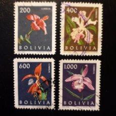 Sellos: BOLIVIA. YVERT 426/9. SERIE COMPLETA USADA. FLORA. FLORES.. Lote 175818477